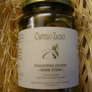 Oliven und Antipasti